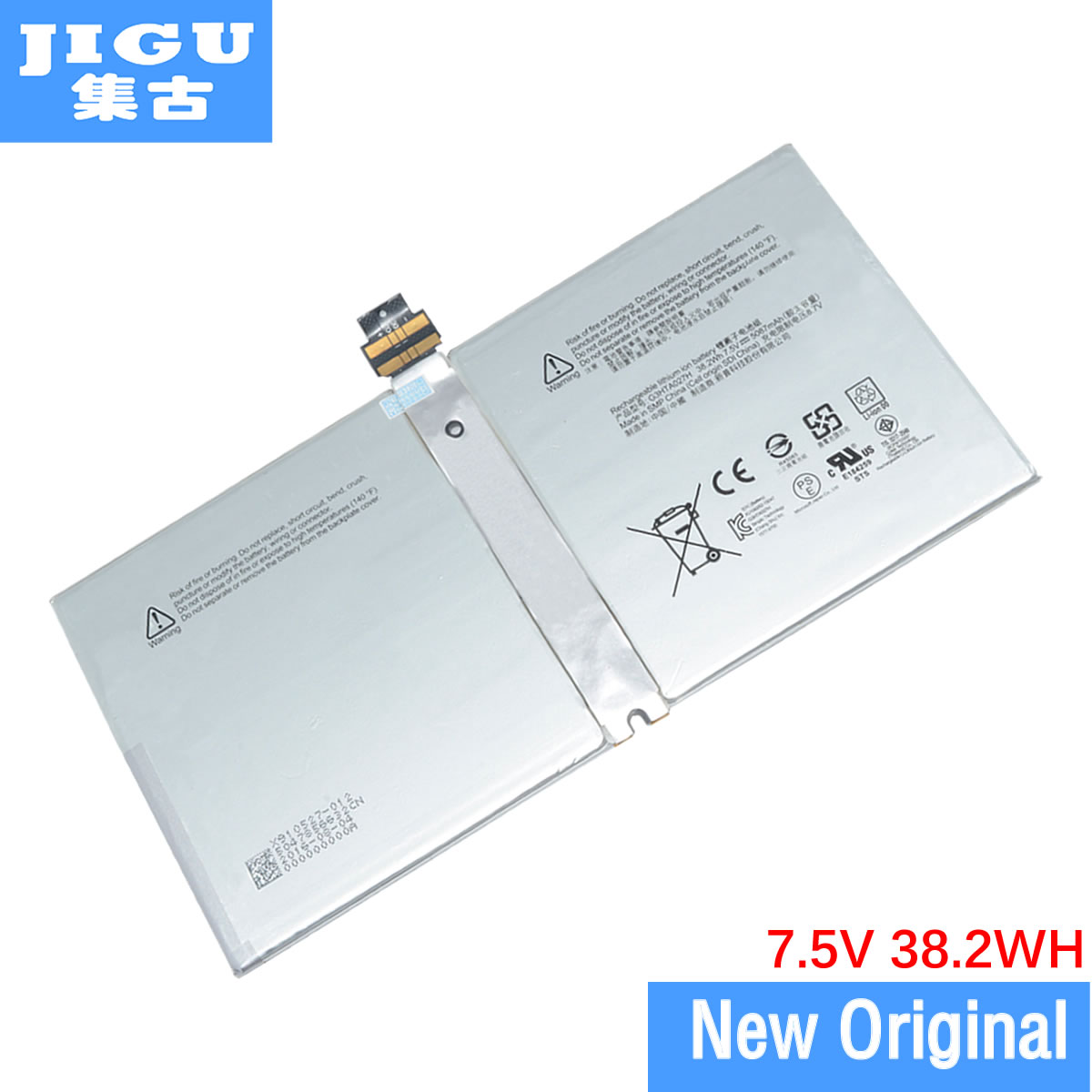 JIGU Original Laptop Battery DYNR01 G3HTA027H P21GU9 For MICROSOFT Surface Pro 4 1724 7.5V 38.2WH G3HTA027H BATTERY