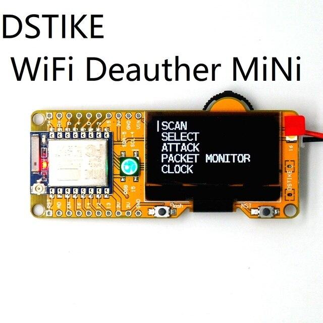 """Dstike placa de desenvolvimento, wifi deauther mini esp8266 com tela de 1.3 """"oled D2 008"""