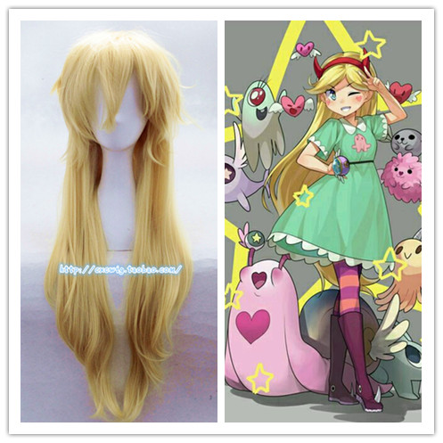 Star Vs. The Forces Of Evil Princess Star Butterfly Cosplay Wig  Women Star Butterfly Role Play Long Hair Wig Costumes