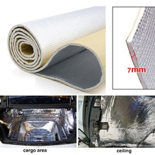 7mm Thick Alumina fiber+ Muffler cotton Car Auto Indoor Heat Sound Deadening Insulation Soundproof Dampening Mat