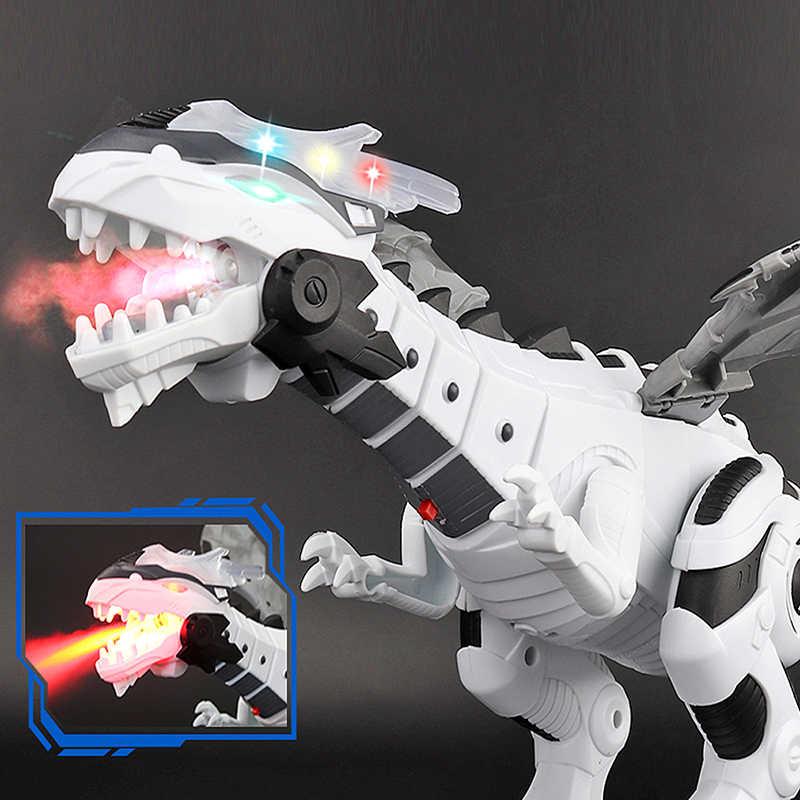 Duży Spray mechaniczne dinozaury ze skrzydłem Cartoon elektroniczne chodzące zwierzę Model Dinosaurio juguete Robot pterozaury zabawki dla dzieci