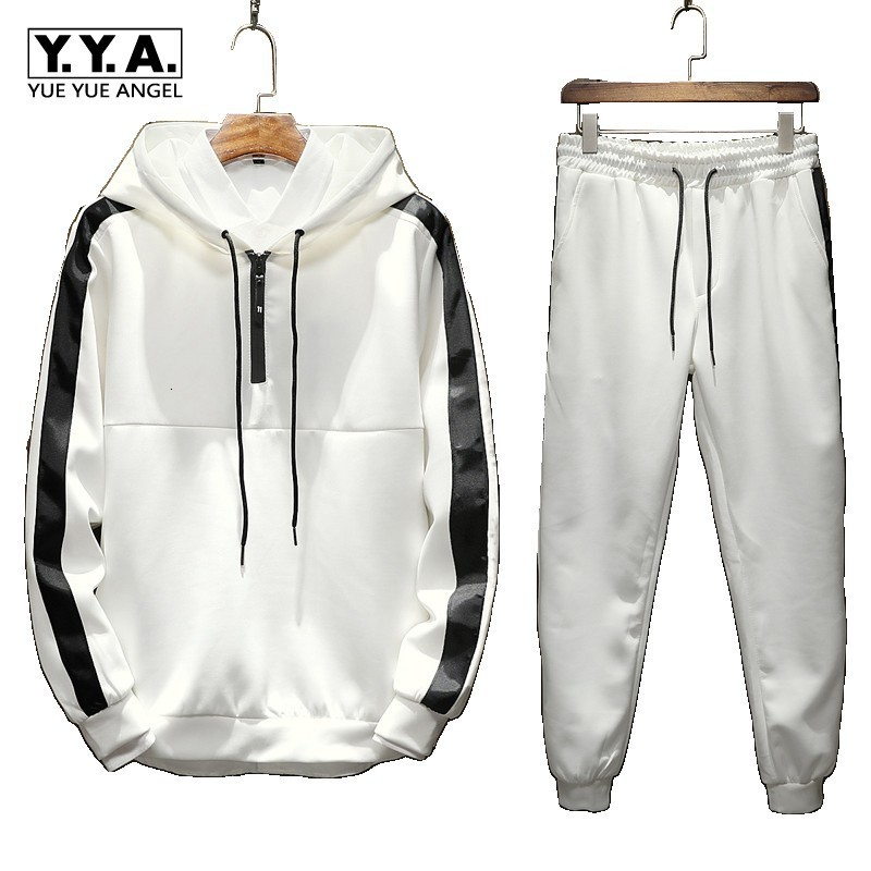 New Mens Workout Suits Male Hooded Sweatshirts Pullover Joggers Sweatpants Tracksuit Fitness 2 Pcs Conjunto Masculino Set M-5XL