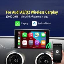 Carlinkit inalámbrico Apple Carplay Android Auto para Audi A3 8V S3 Q2 B9 para 2010 -2019, 5,8 pulgadas Pantalla de 7 pulgadas Mirrorlink IOS 14