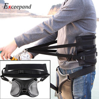 Exceepand Harness Belt Jigging Rod Pole Holder Gimbal Pad Fishing Fighting Big Game Stand Up Back Waist Fishing Tackle