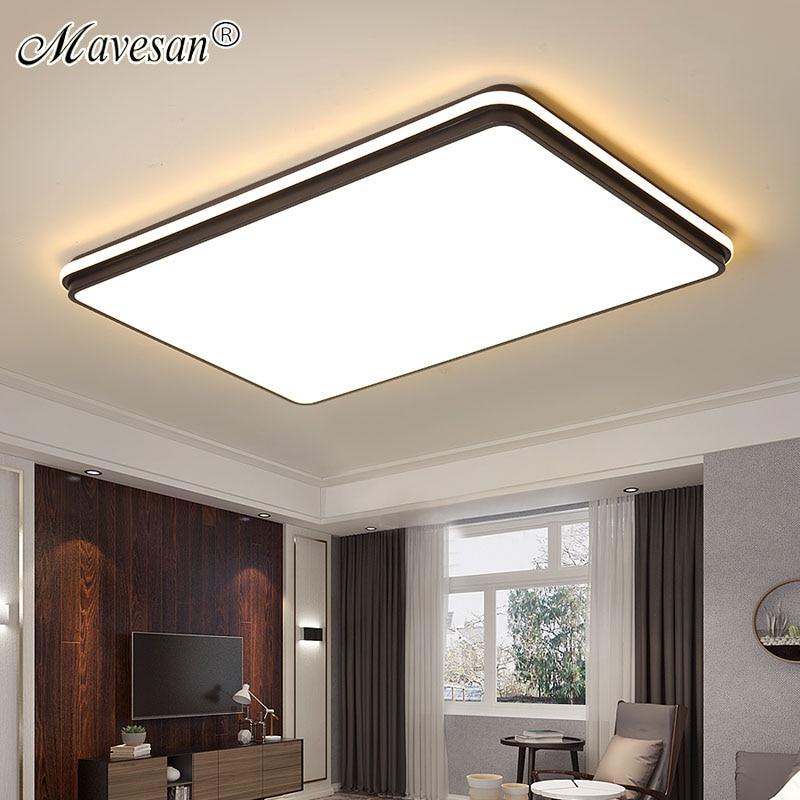 Rond/carré LED Lustre éclairage pour chambre salon nouveau luminaire Lustre Avize LED Lustre de plafond pour la famille