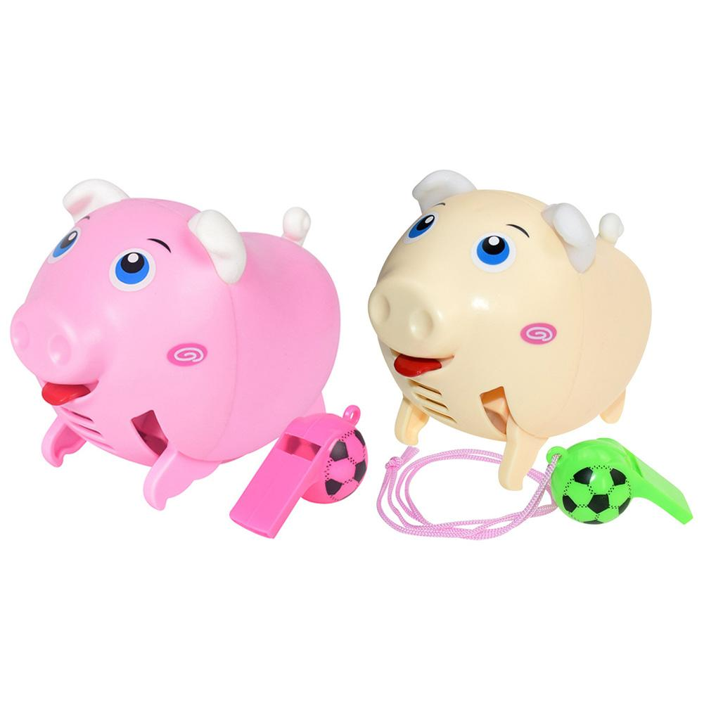 Intelligent Sound Induction Whistle Excellent ABS Electronic Components Running Piglet Electric Baby Kids Puzzle Toy