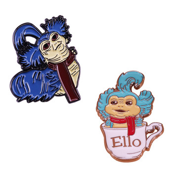 Labyrinth Ello Pin Cult Classic Movie Mega Fans Badge The friendly worm who invites Sarah in for a nice cup of tea. image