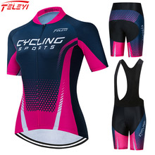 2021 Teleyi Women's Cycling Clothing Summer Mountain Bike Clothing Pro Team Bicycle Clothes Anti-UV Ropa Ciclismo