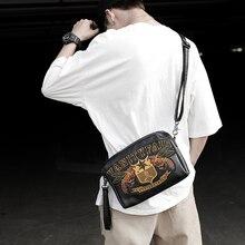 Hip Hop Vintage Men Shoulder Bag Luxury Casual Korean Sport Shoulder Bag Fashion Zipper Bolsos Hombre Crossbody Bag DE50NDJ