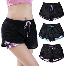 Women Yoga Running Shorts 2 In 1 Breathable Mesh Gym Athletic Workout Training Cycling Fitness Clothes Sportwear