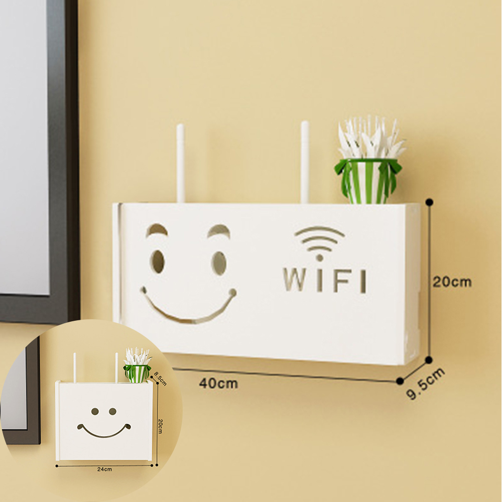 Wireless Wifi Router Storage Box Wood Plastic Shelf Wall Hangings Bracket Cable Storage 2 Size Home Decor|Storage Boxes & Bins| |  - title=