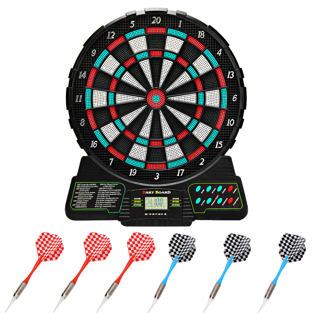 Electronic Dartboard LCD Display Automatic Scoring 18 Games 159 Options Dart Game Set For 8 Players
