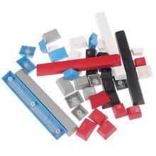 1 zestaw czarny/biały/czerwony/niebieski/szary nasadki na klawisze z PBT dla Corsair K65 K70 K95 Logitech G710 klawiatury do gier