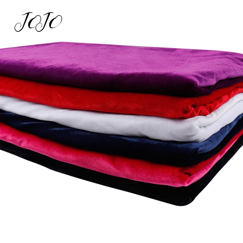 Бархатная ткань JOJO BOWS, мягкий однотонный лист, домашний текстиль, швейный материал для рукоделия, товары ручной работы, 45*145 см
