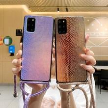 Strap Phone Case For Xiaomi POCO X3 Pro NFC F3 Redmi 9T 9A Necklace Lanyard Crossbody Snake Silicone Redmi Note 10 Pro 10s Cover