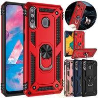 Para Samsung Galaxy A20e A70 A50 A40 A30 A20 A10 caso soporte armadura cubierta para Samsung A80 A90 A50 A70 M40 M20 imán teléfono caso