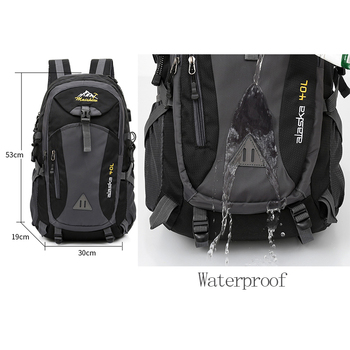 40L unisex waterproof men backpack travel pack sports bag pack Outdoor Mountaineering Hiking Climbing Camping backpack for male 6