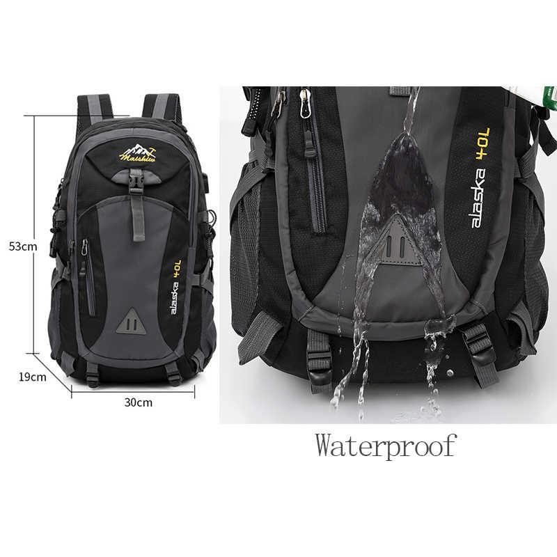 Mochila unissex impermeável de 40l para esportes, mochila impermeável unissex, ideal para esportes, trilhas, acampamento e atividades ao ar livre