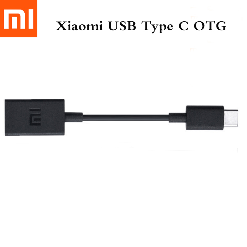 Original XIAOMI USB Type C OTG Data Cable Support Mouse Keyboard U Disk For Mi9 F1 A1 A2 8 SE 6 6X 5 MAX 2 3 MIX 2 2S Redmi 8 8A