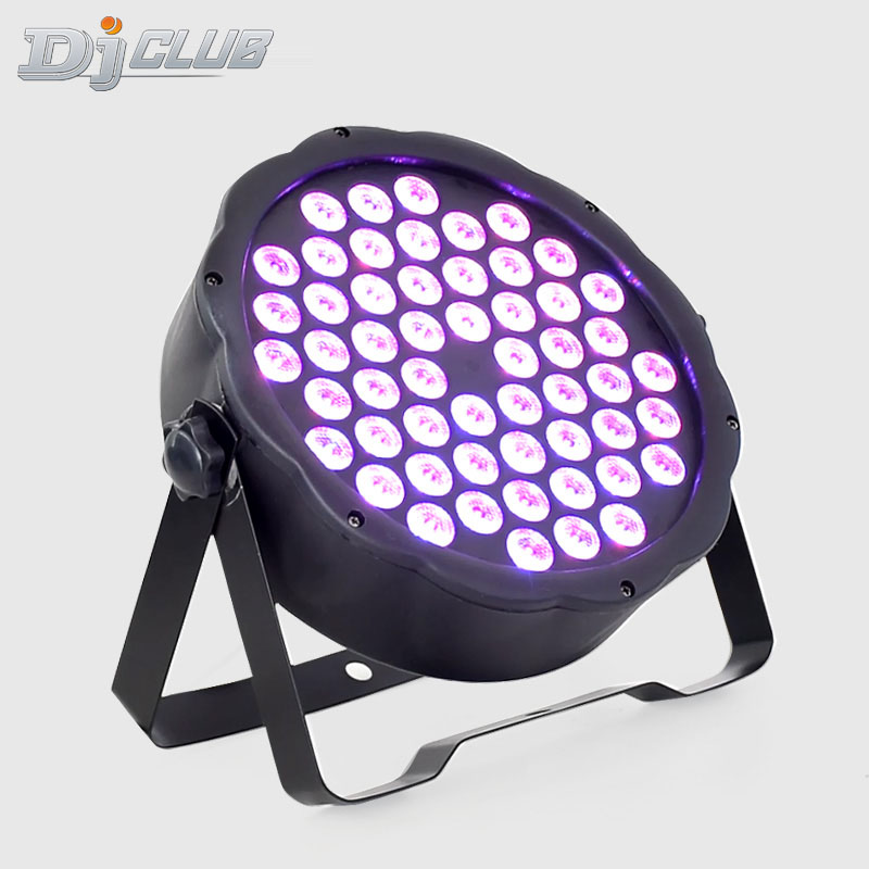 LED Par Can Light 54x3W RGB Full Color Dmx Control With 7 Channels Stage Light For DJ Lighting