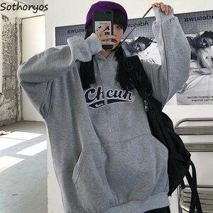 Hoodies Hooded Women Loose Teens Harajuku Printed Plus Velvet Thick Oversize BF All-match Trendy Womens Hoodie Korean Style New