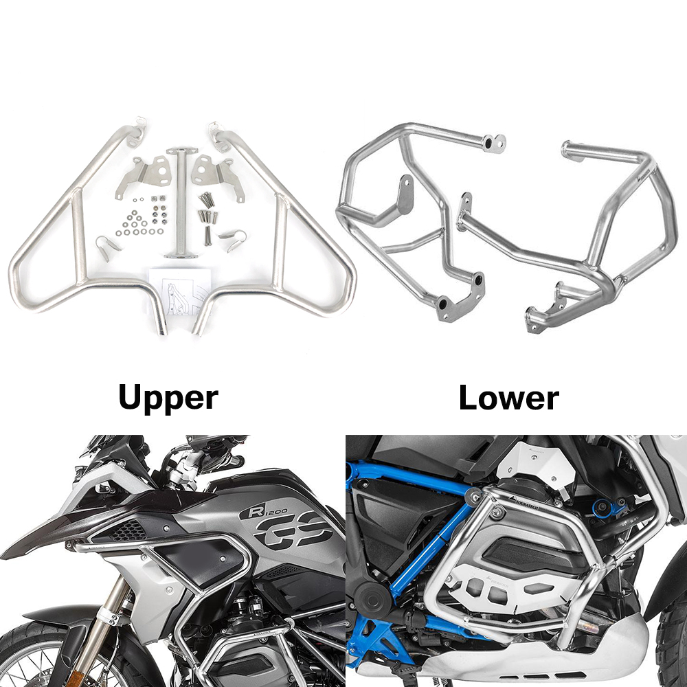 For BMW R1200GS R 1200 GS R1200 LC 2013 2014 2015-2018 Motorcycle Crash Bar Bumper Highway Frame Protector Engine Guard Tank Bar