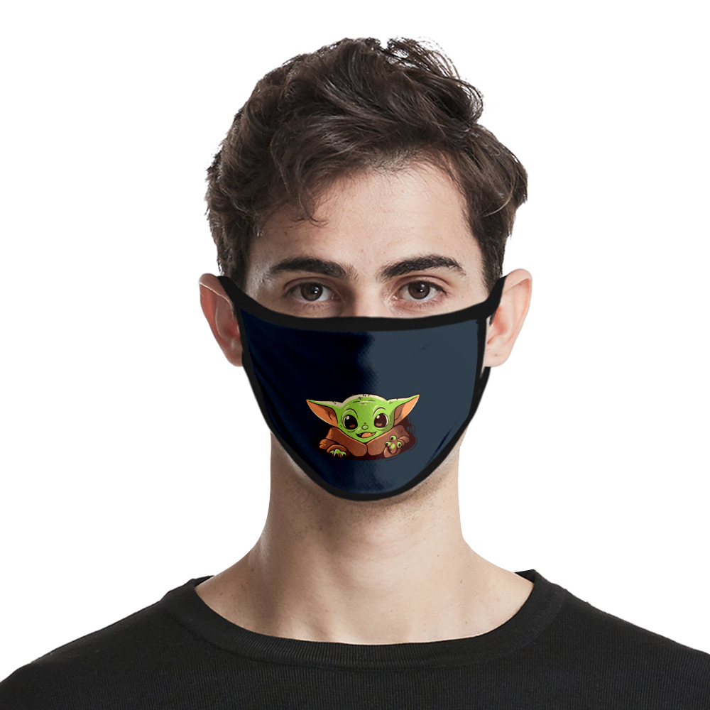 Adults Mouth Mask Star Wars Yoda  Breathable Face Mask Reusable Anti Pollution Face Shield Wind Proof Mouth Cover