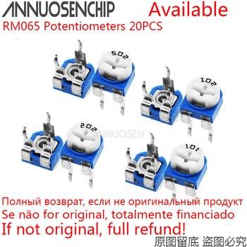 20 шт. RM065 RM-065 100 200 500 1K 2K 5K 10K 20K 50K 100K 200K 500K 1M Ом Триммер Потенциометр переменный резистор 101