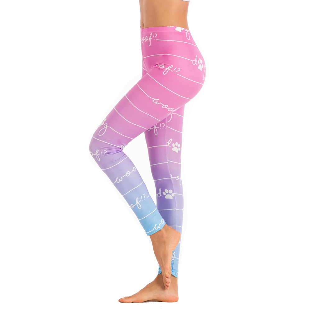 Brands Women Fashion Legging Line Gradient Color Printing Leggins Sexy Slim Legins High Waist Punk Leggings Woman Fitness Pants