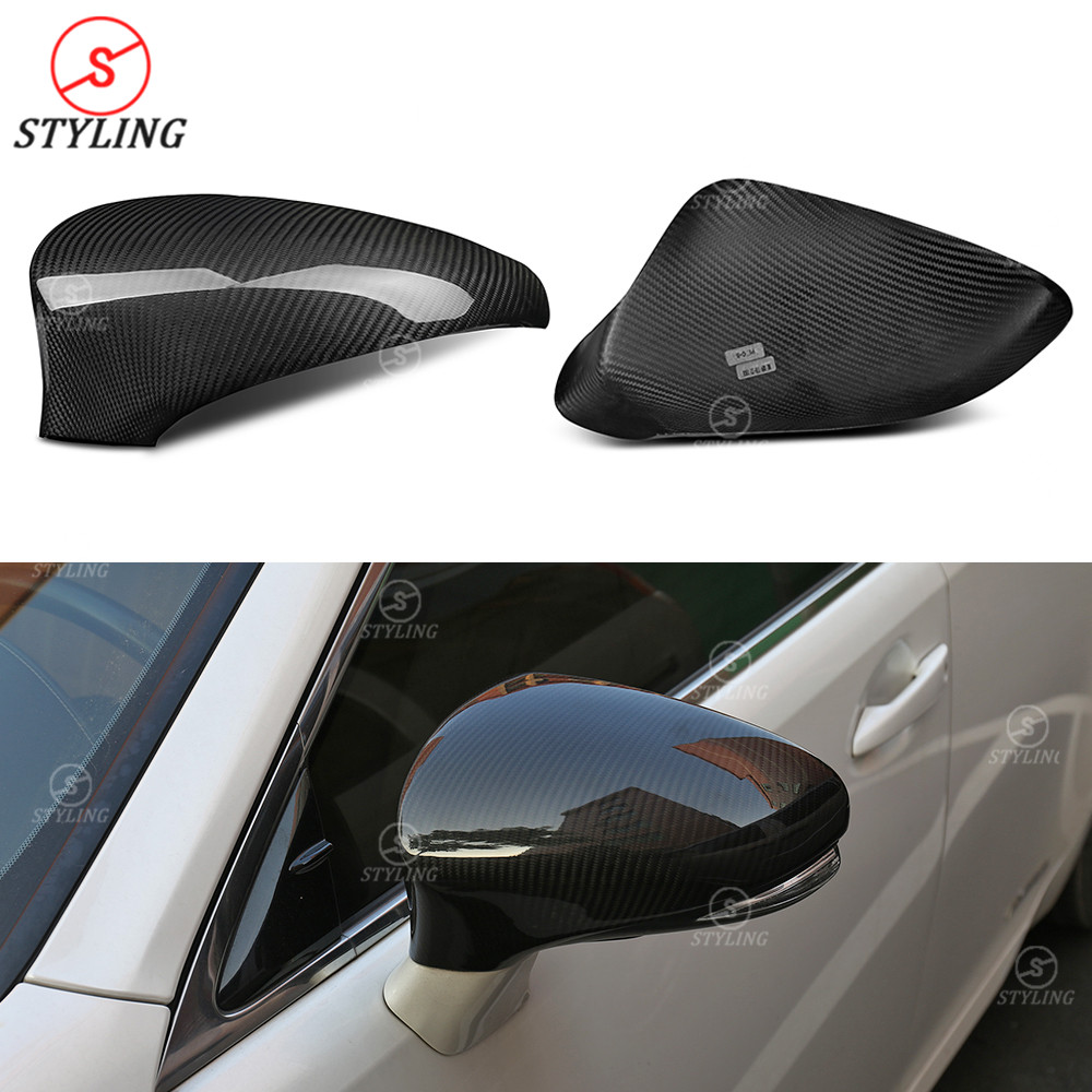 RCF CT Side Mirror Cover LHD For Lexus GS IS ES RC LS Dry Carbon Fiber