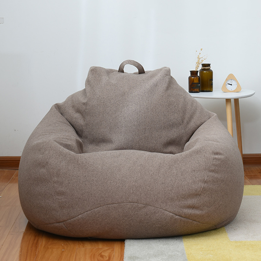 New Large Small Lazy Sofas Cover Chairs without Filler Linen Cloth Lounger Seat Bean Bag Pouf Puff Couch Tatami Living Room