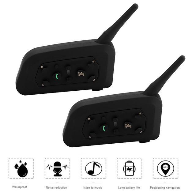 EJEAS V6 Pro Bluetooth Motorcycle Interphone Headset Helmet Intercom for 6 Riders