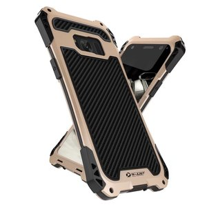 Image 3 - R JUST Case For Samsung 10 Plus S9 S8 S7 Edge Case Armor King Aluminum Carbon Fiber Shockproof Cover For Galaxy Note 8 9 10Coque