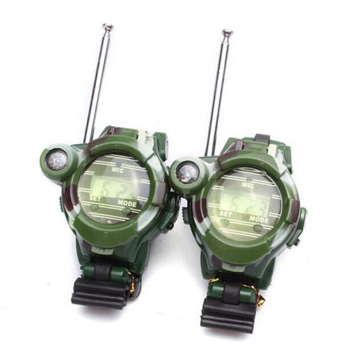 Children Watches Digital Portable Radio Kid LCD Outdoor Display with Mic Talkie 2pcs