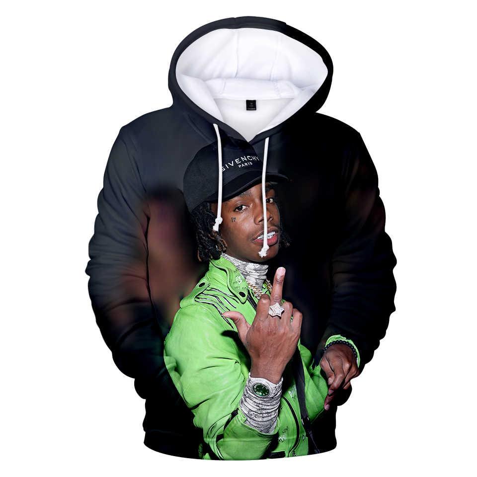 Creative Beroemde Merk 3D gedrukt YNW Melly Hoodies sweatshirts Mannen/Vrouwen Hoge Kwaliteit Harajuku Hoodies Hip Hop Print