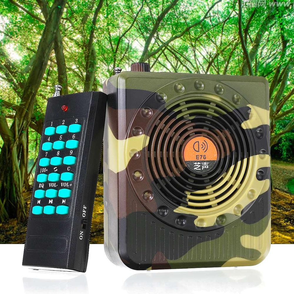 pddhkk 32 w camuflagem cor passaro chamador mp3 player armadilha de passaro eletronico caca chamariz som