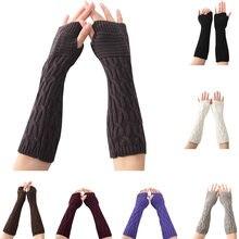 1 пара женские вязаные теплые перчатки для девочек зима осень