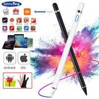 스타일러스 펜 애플 ipad 프로 11 12.9 10.5 9.7 애플 스마트 터치 연필 2 공기 3 미니 4 5 화웨이 태블릿 ipad 10.2 액세서리