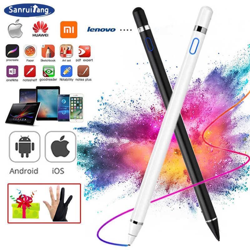 Bút Cảm Ứng Cho Apple iPad Pro 11 12.9 10.5 9.7 Apple Cảm Ứng Thông Minh Bút Chì 2 Cho Không Khí 3 Mini 4 5 Huawei Máy Tính Bảng Ipad 10.2 Phụ Kiện