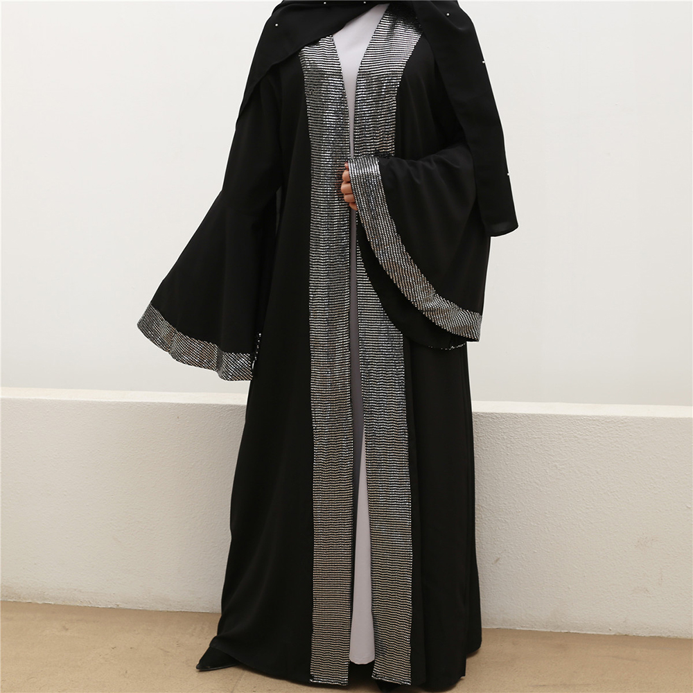Ramadan Dubai Arabic Sequin Abaya Kimono Mujer Hijab Muslim Dress Turkish Islamic Clothing Abayas For Women Kaftan Caftan Niqab