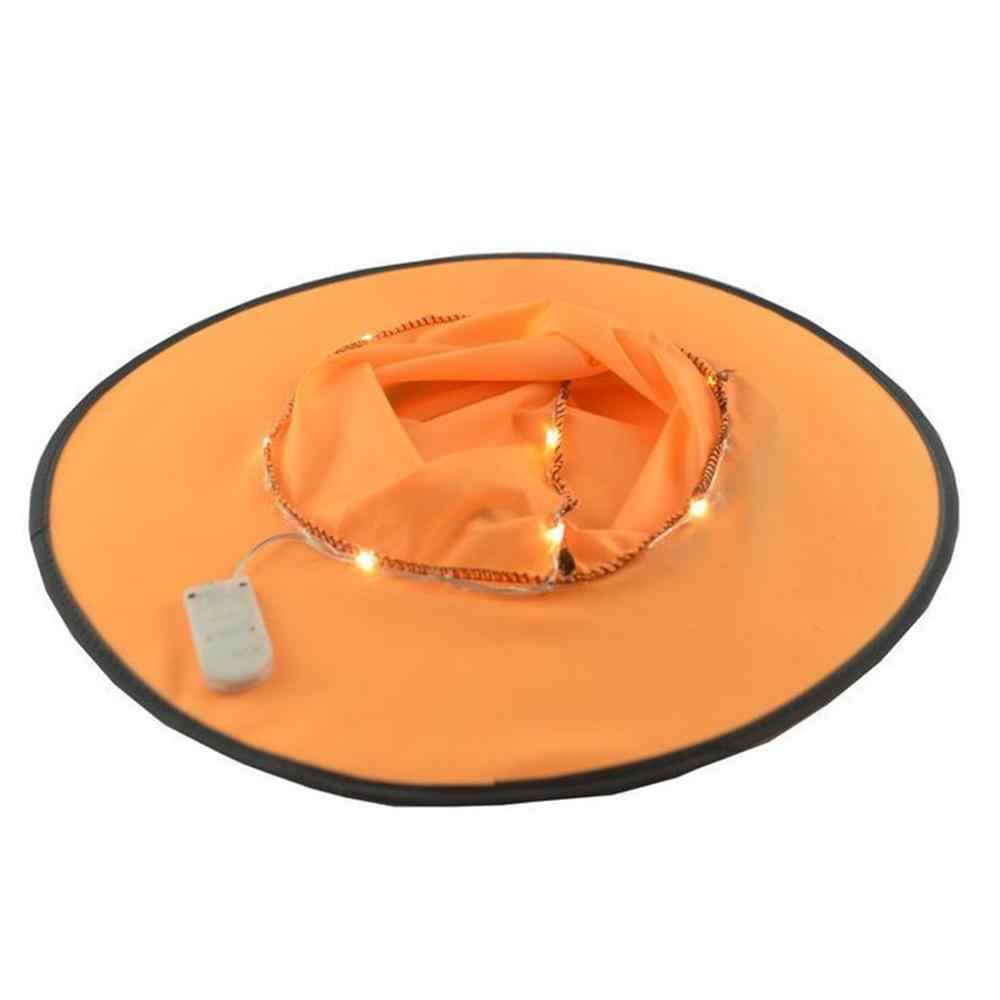 Взрослый Хэллоуин ведьмы голова для карнавального костюма-одежда принадлежности для костюмированной вечеринки оранжевая светящаяся шляпа ведьмы A1