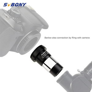 SVBONY 1.25'' 2X Barlow Lens Telescope M42X0.75 Thread for Standard for Astronomy Telescope +T Adapter Double Lens F9108(China)
