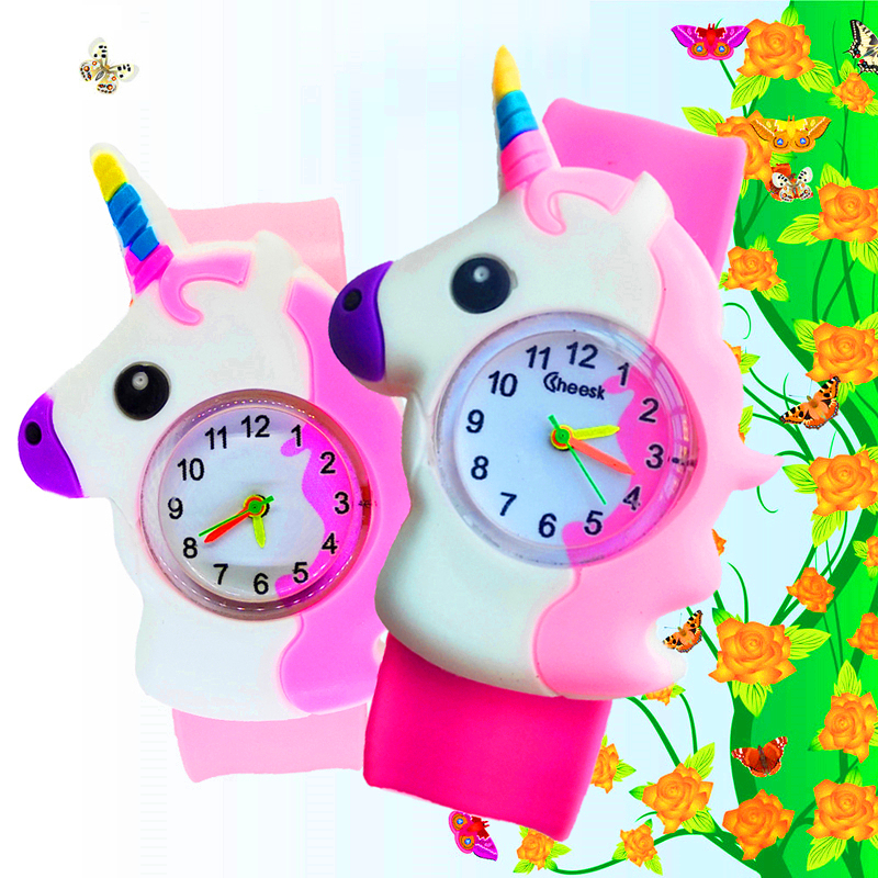 Patted Wrist Watch Children Kids Watches Boys Girls Gift Electronic Digital Sports Children Watch Students Clock Baby Horse Toys