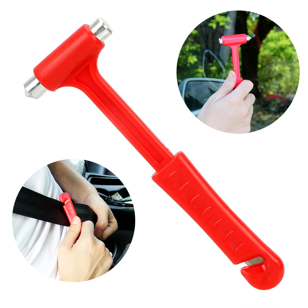 LEEPEE Car Safety Hammer Car Safety Escape Glass Window Breaker Emergency Hammer Car Accessories Life-Saving Seat Belt Cutter image