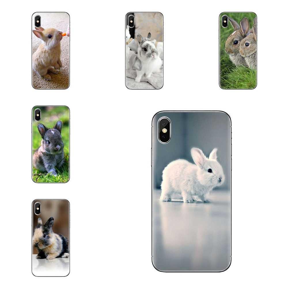 Coelhos Do Bebê Soft Case Covers Cinza Branca Poster Para Sony Xperia Z Z1 Z2 Z3 Z5 compacto M2 M4 M5 e3 T3 XA Aqua LG G4 G5 G3 G2 Mini