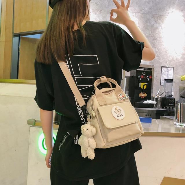Feminino multifunction bags for women ins ferramentas na moda crossbody saco coreano japonês harajuku mochila pequena bolsa de ombro 2020 1