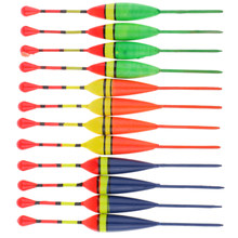 12 pièces bois flotteurs pêche sur glace Bobbers équipement de pêche verticale 11cm