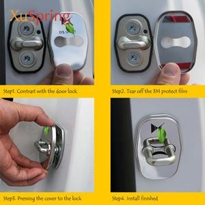 Image 5 - רכב דלת מנעול מכסה הגנת נירוסטה סטיילינג אביזרי עבור DS רוח DS3 DS4 DS4S DS5 DS5LS DS6 DS7