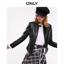 ONLY summer new slim cool stitching slim short leather jacket women | 118310527(China)