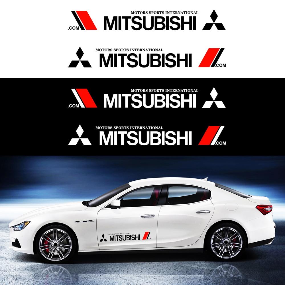 Car Door Stickers Side Sticker Auto Car Body Stripe Sticker Decals Vinyl For Mitsubishi ASX Lancer Pajero Outlander L200 EVO